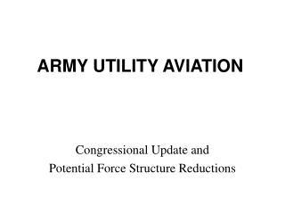 ARMY UTILITY AVIATION