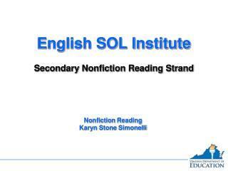 Nonfiction ReadingKaryn Stone Simonelli