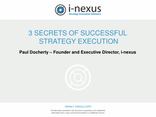 3 Secrets of Successful Execution Webinar