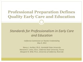 Howard Gardner on the Nature of Professions