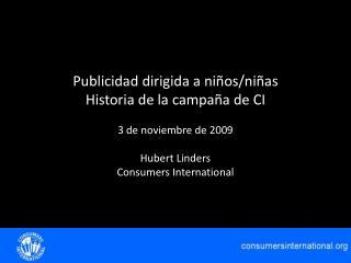 Hubert Linders Consumers International