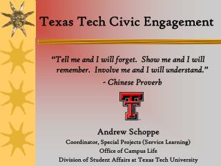 Texas Tech Civic Engagement