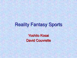 Reality Fantasy Sports
