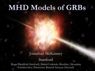 MHD Models of GRBs