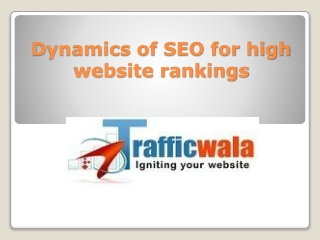 Dynamics of SEO for high website rankings