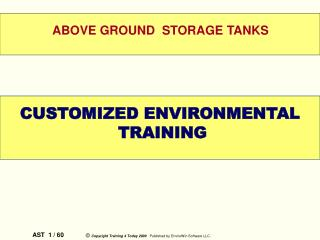 governing acts for above ground storage tanks