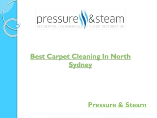 Best Carpet Cleaning In North Sydney