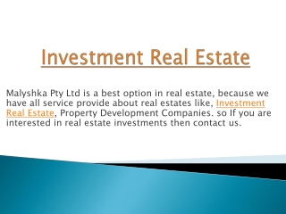 Best property Development in Australia