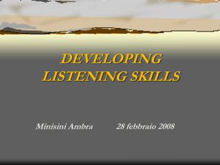 DEVELOPING 