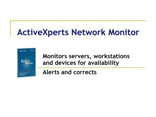 ActiveXperts Network Monitor
