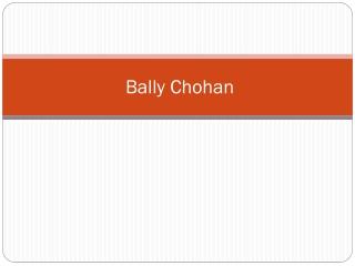 Bally Chohan