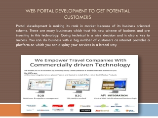 Web Portal Development to Get Potential Customers
