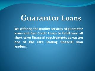 Guarantor Loan UK