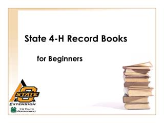 state 4-h record books