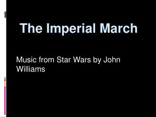 the imperial march
