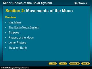 Section 2: Movements of the Moon