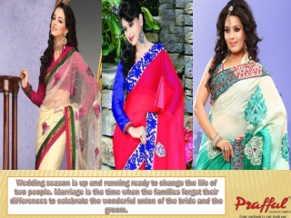 Buy Designer Bridal Sarees at Prafful!