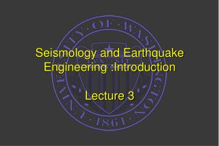 seismology and earthquake engineering :introduction