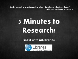 3 Minutes to Research