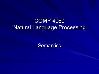 COMP 4060 