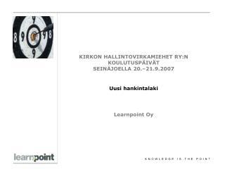 Learnpoint Oy lyhyesti:
