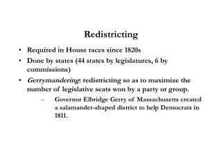 Redistricting