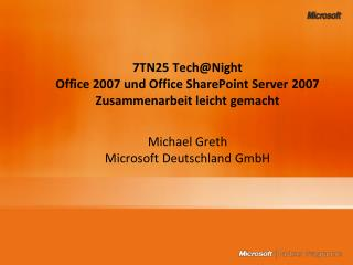 7tn25 technight office 2007 und office sharepoint server 2007 ...7tn25 technight