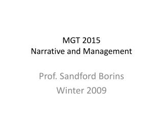 MGT 2015