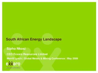 South African Energy Landscape