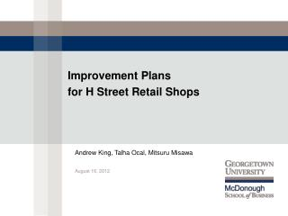 Improvement Plans 