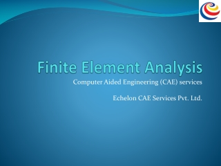 Finite Element Analysis in India