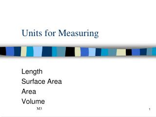 Units for Measuring