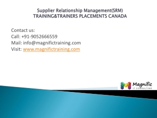 Supplier Relationship Management training