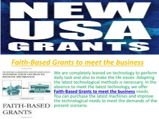 Faith Based Grants