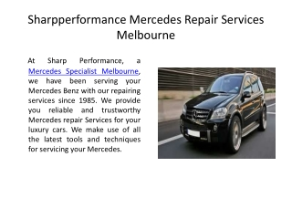 Where to Go for a Reliable Mercedes Benz Servicing?