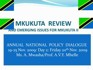 MKUKUTA  REVIEW  AND EMERGING ISSUES FOR MKUKUTA II