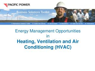 Energy Management Opportunities in  Heating, Ventilation and Air Conditioning HVAC