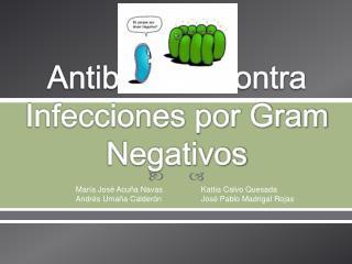 Antibióticos contra Infecciones por Gram Negativos