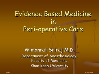 Evidence Based Medicine 
