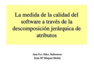 La medida de la calidad del software