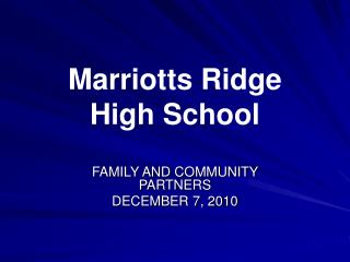 Marriotts Ridge