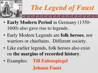 The Legend of Faust