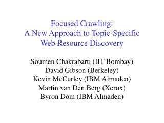 Soumen Chakrabarti IIT Bombay 1999