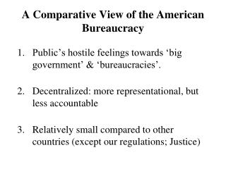 a comparative view of the american bureaucracya comparative view of the american bureaucracy