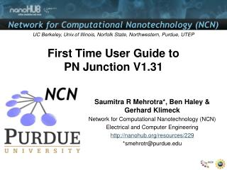 First Time User Guide to