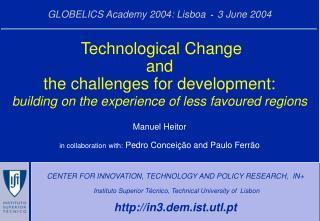GLOBELICS Academy 2004: Lisboa  -  3 June 2004