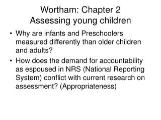 Wortham: Chapter 2