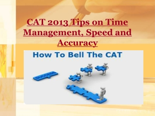 CAT 2013 Tips on Time Management, Speed and Accuracy