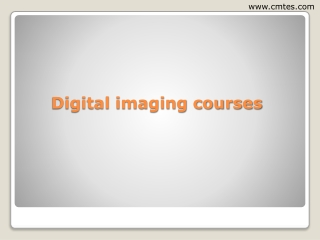 digital imaging courses