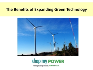 The Benefits of Expanding Green Technology